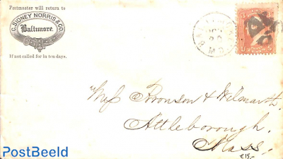 Letter from Baltimore to Attleborough