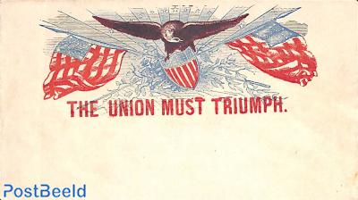 Civil war envelope, the Union must Triumph