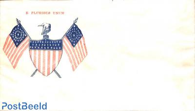 Civil war envelope, E. Pluribus Unum