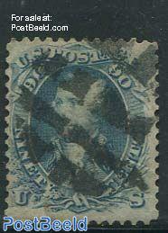 90c, Blue, used