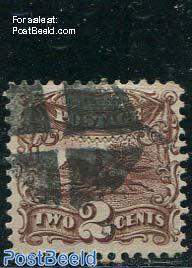2c Brown, used