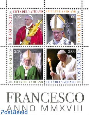 Pontification, pope Francis 4v, m/s