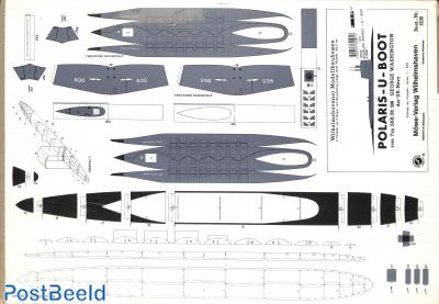 Bouwplaat Polaris-U-Boot 1:250