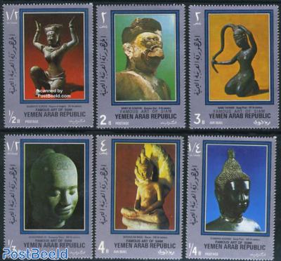 Siamese sculptures 6v