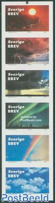 Skies 6v in booklet s-a