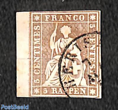 5 Rappen, Munich print, used