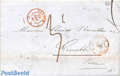 folding letter from Geneve