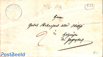 folding letter from Burgdorf