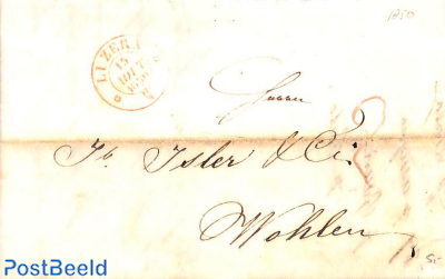 folding letter from Luzern to Wohlen