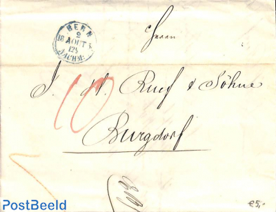 folding letter from Bern to Burgdorf