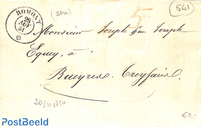 folding letter from Romont