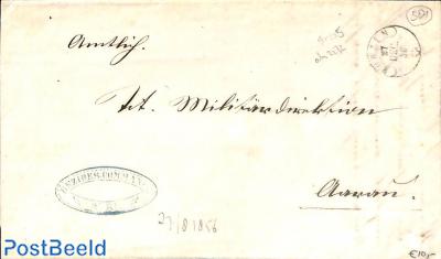 folding letter to Aarau. Bezirks