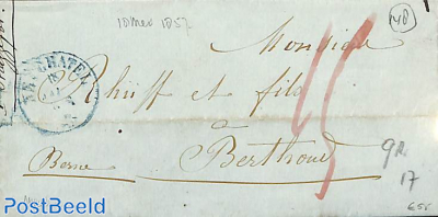 folding letter to Berthout
