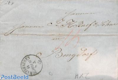 folding letter from Schaffhausen