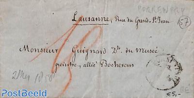 Letter from Lausanne to Chaux de Fonds