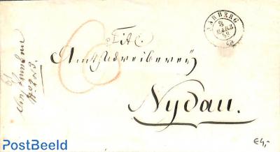 Envelope from Aarberg to Nidau