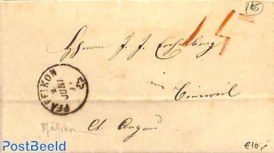 folding letter from Pfaffikon to Lenzburg