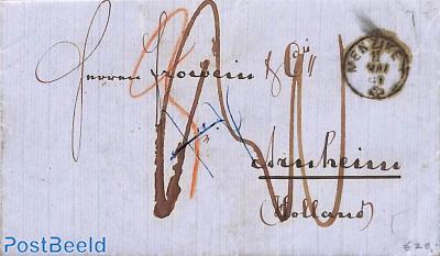 Folding letter from Menziken to Holland