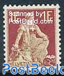1Fr, Stamp out of set