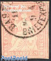 15 Rappen, Munich print, used