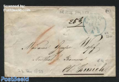 Letter from Geneve to Zuerich