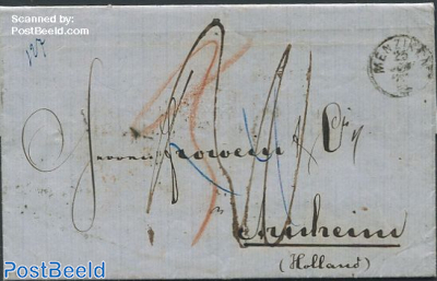 Folding letter from Zwitserland to The Netherlands