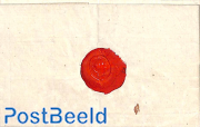 Folding letter from Arnhem to Arnhem, with a wax stamp