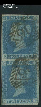2p blue, vertical pair