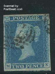 2p blue, used
