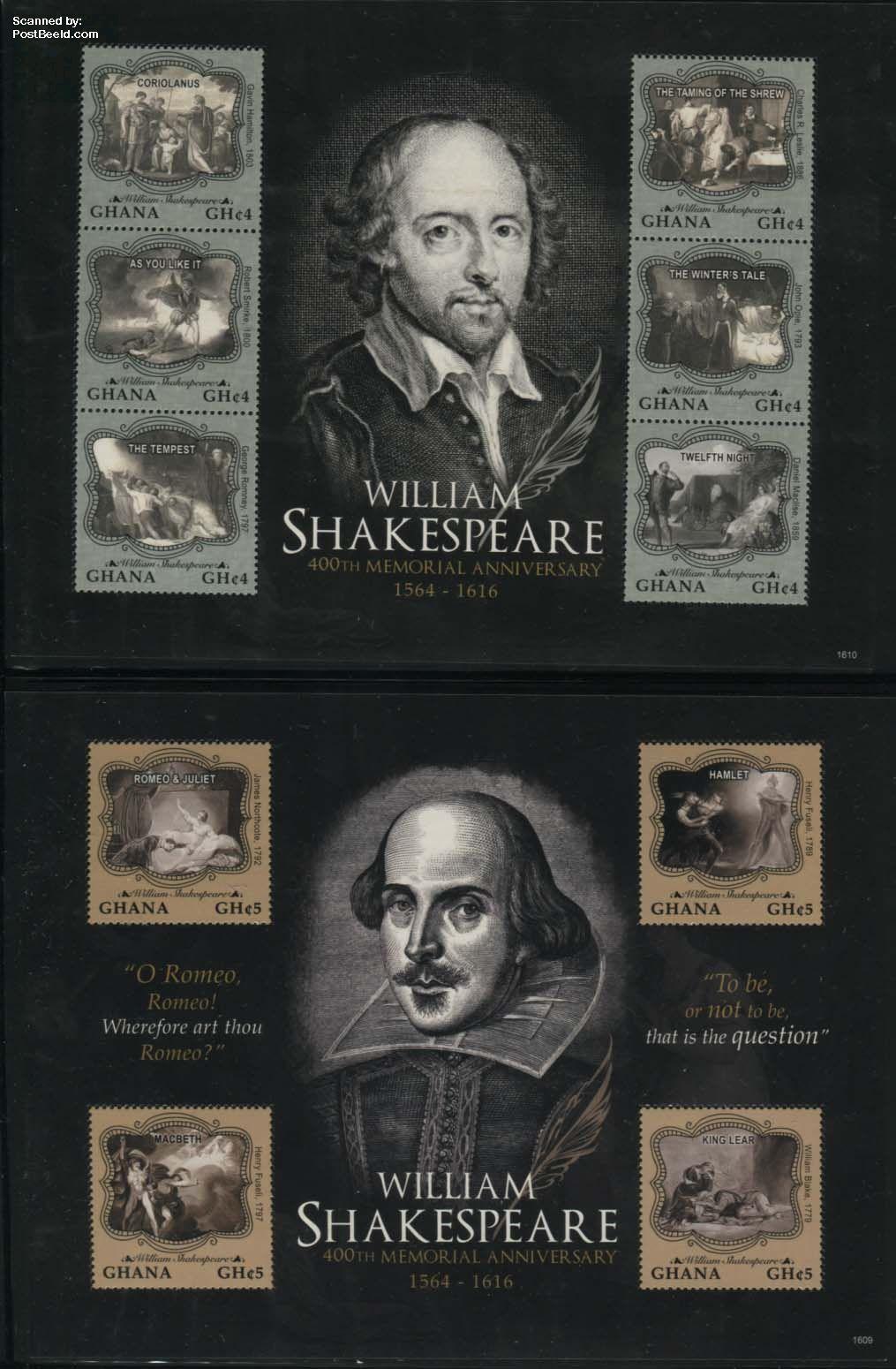 William Shakespeare 2 s/s