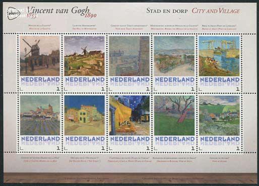 Vincent van Gogh 10v s-a, City and Village