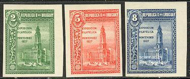 Montevideo stamp expo 3v