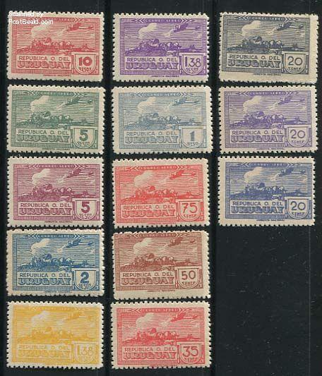Airmail definitives 13v